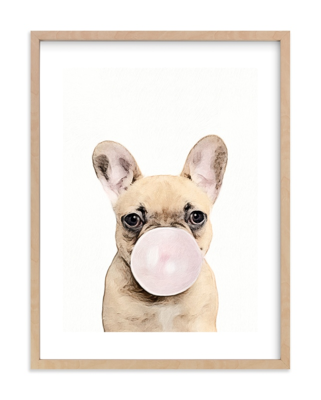 Bubblegum animals Children's Art Print