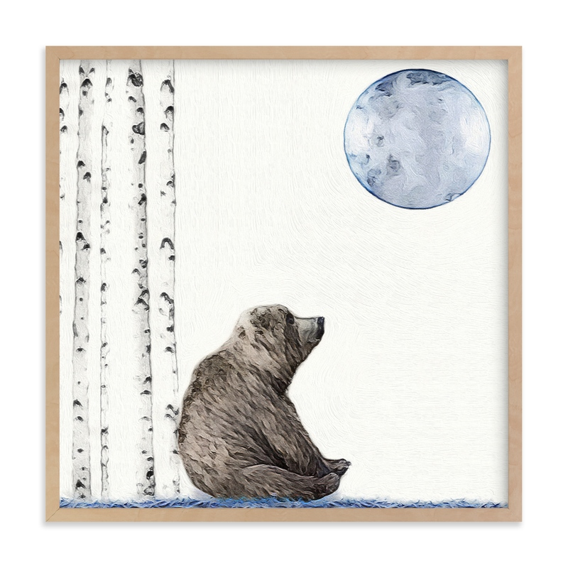 """""""Once upon a blue moon"""" - Limited Edition Art Print by Maja Cunningham in beautiful frame options and a variety of sizes."""