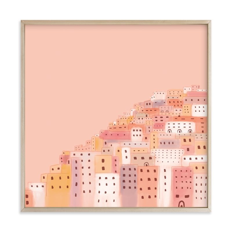 """""""Positano Houses"""" - Limited Edition Art Print by Laura Mitchell in beautiful frame options and a variety of sizes."""
