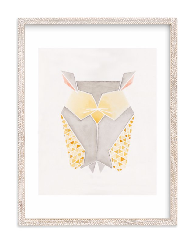 """""""Feathered Folds No. 3"""" - Limited Edition Art Print by Monica Cheng in beautiful frame options and a variety of sizes."""