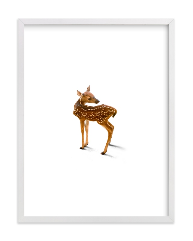 """A Deer Friend"" - Limited Edition Art Print by Andrew McClintock in beautiful frame options and a variety of sizes."