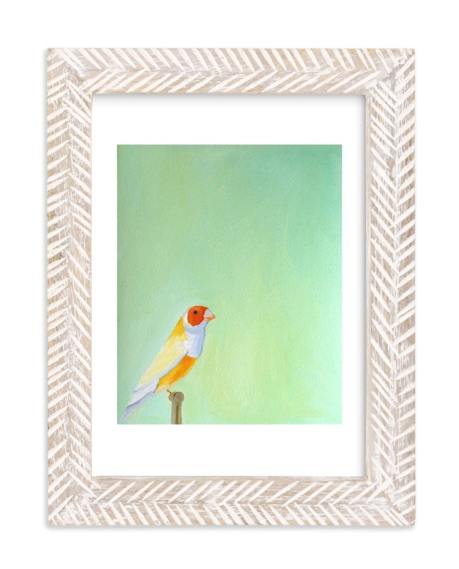 """""""Perched"""" - Limited Edition Art Print by claire whitehead in beautiful frame options and a variety of sizes."""