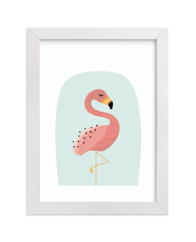"""Zen Flamingo"" - Limited Edition Art Print by Erica Krystek in beautiful frame options and a variety of sizes."