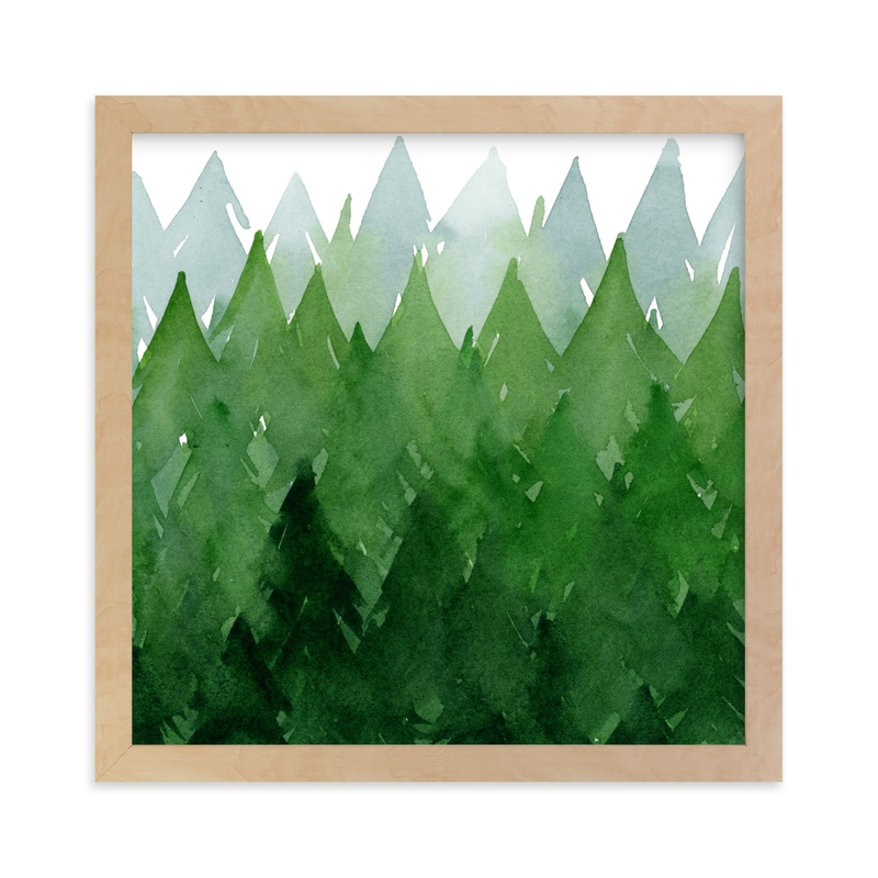 """""""Forest"""" - Limited Edition Art Print by Priscilla Lee in beautiful frame options and a variety of sizes."""