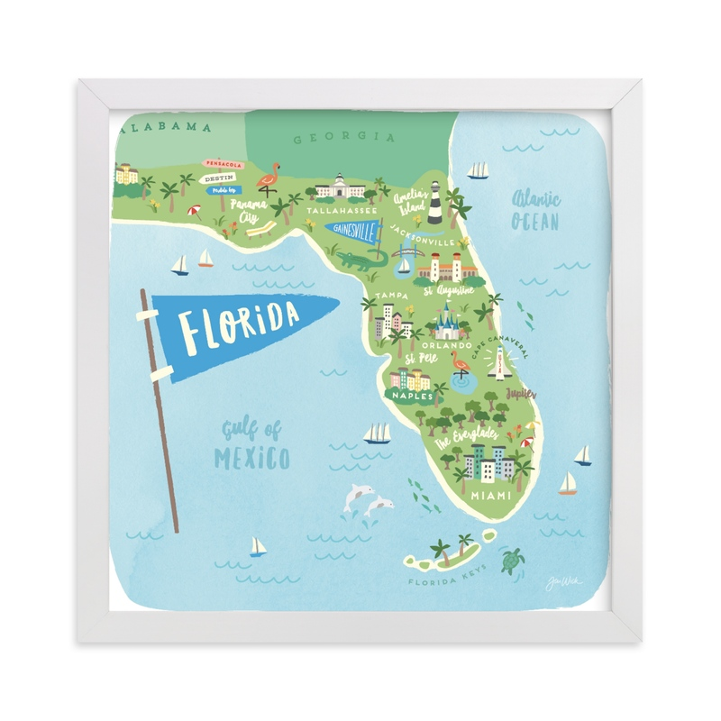 """Sunny Florida"" - Limited Edition Art Print by Jennifer Wick in beautiful frame options and a variety of sizes."