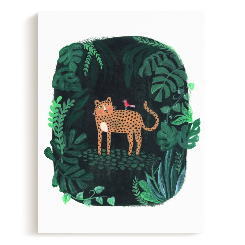 Wild Cat Children's Art Print