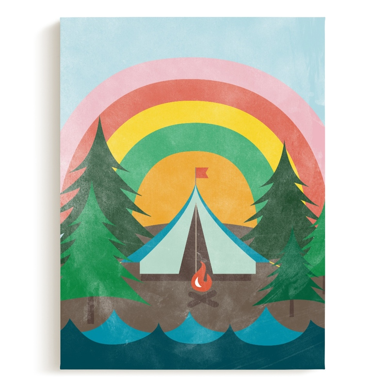 Camp Rainbow Children's Art Print