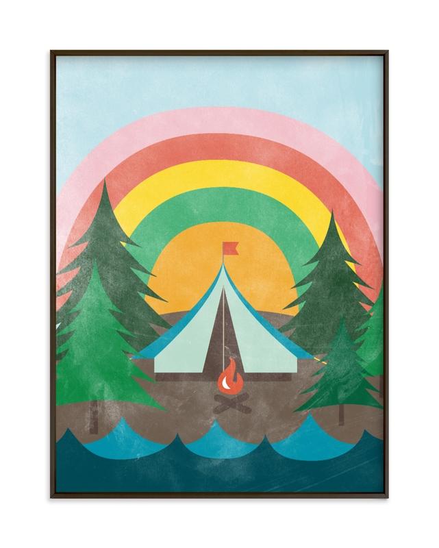 Camp Rainbow Children's Art Print
