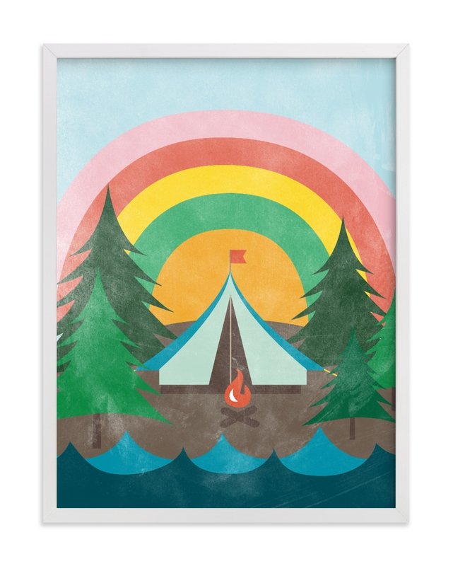 """""""Camp Rainbow"""" - Limited Edition Art Print by Shirley Lin Schneider in beautiful frame options and a variety of sizes."""