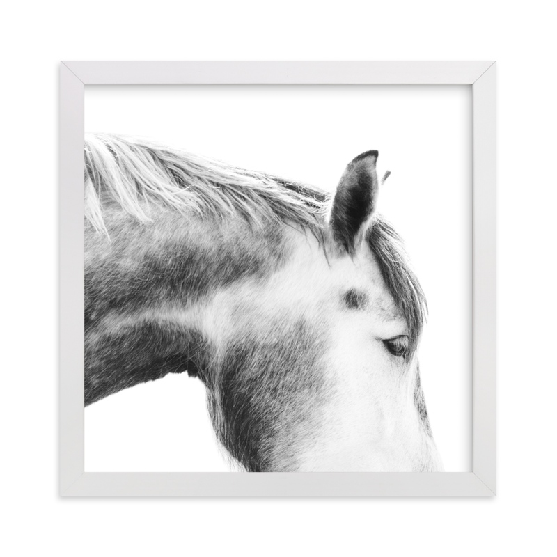 """Grey Horse"" - Limited Edition Art Print by Jessica C. Nugent in beautiful frame options and a variety of sizes."