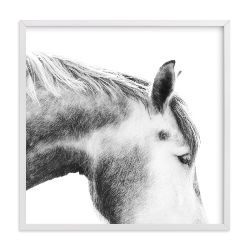 """""""Grey Horse"""" - Limited Edition Art Print by Jessica C. Nugent in beautiful frame options and a variety of sizes."""