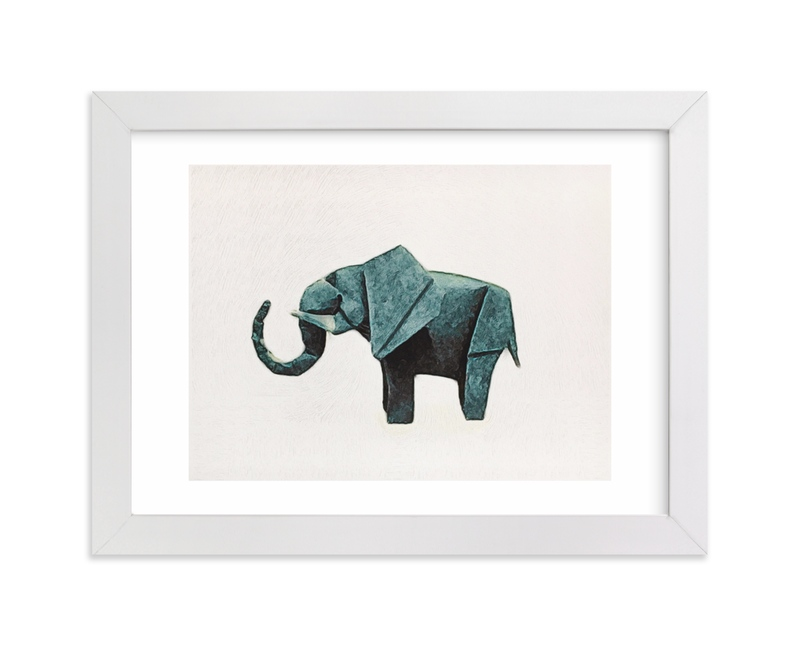 """""""Paper Animals: Elephant"""" - Limited Edition Art Print by Maja Cunningham in beautiful frame options and a variety of sizes."""