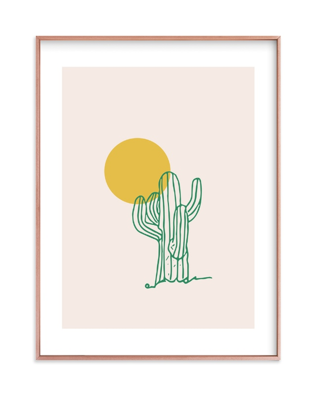 """""""Saguaro I"""" - Limited Edition Art Print by Erika Firm in beautiful frame options and a variety of sizes."""