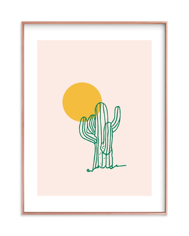 """Saguaro I"" - Limited Edition Art Print by Erika Firm in beautiful frame options and a variety of sizes."
