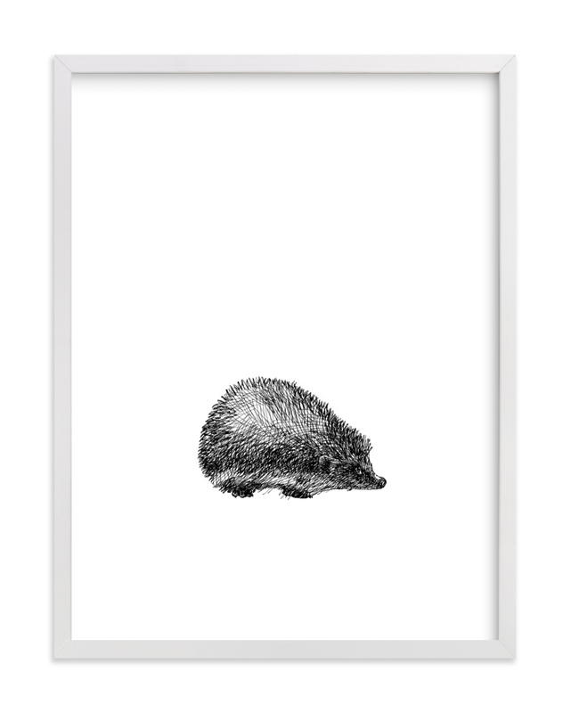 """""""pétit hérisson"""" - Limited Edition Art Print by IMG_101 in beautiful frame options and a variety of sizes."""