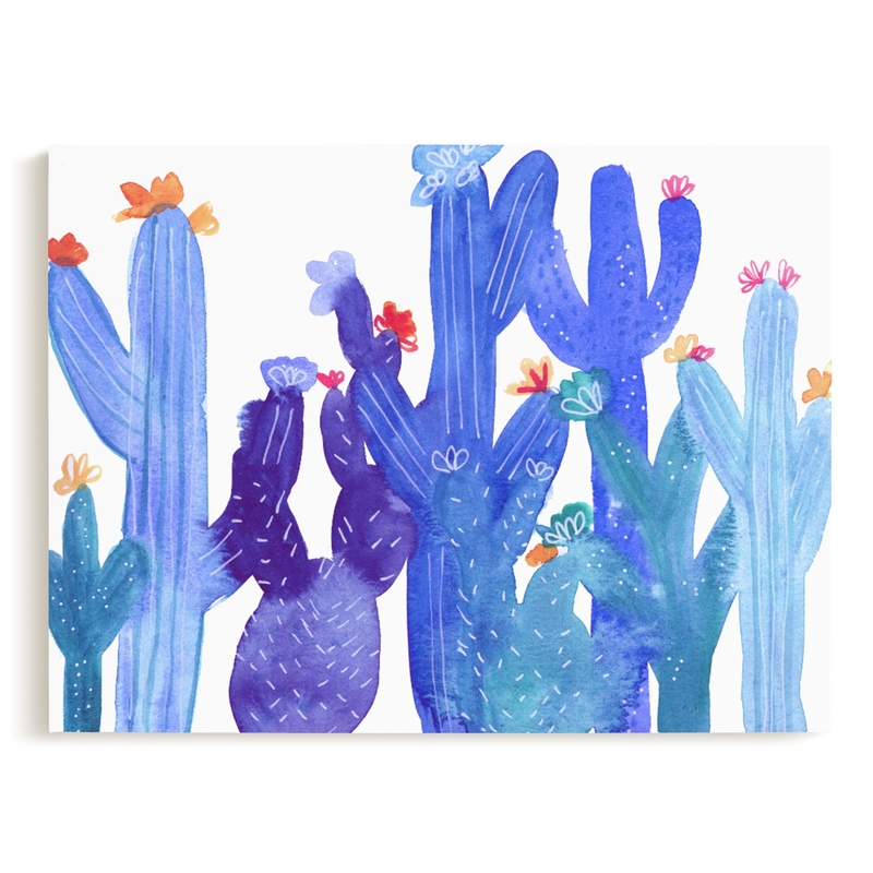 Blue Desert Children's Art Print