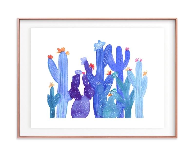 Blue Desert Children's Art Print