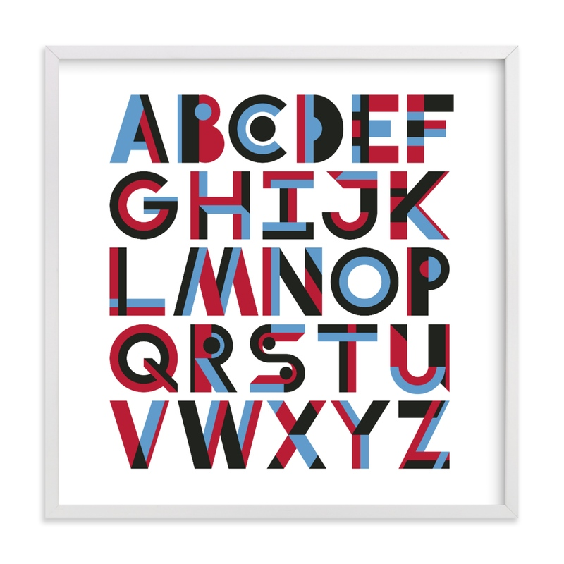 """Geometric Alphabet"" - Limited Edition Art Print by Faye Brown in beautiful frame options and a variety of sizes."