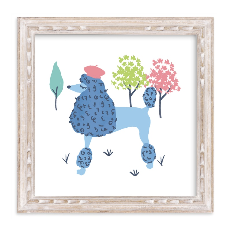 """""""Parisian Poodle"""" - Limited Edition Art Print by Ali Macdonald in beautiful frame options and a variety of sizes."""