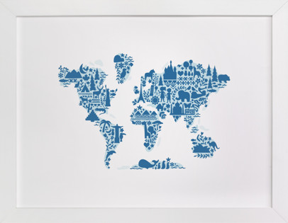 Kids wall art minted little big world map gumiabroncs Image collections