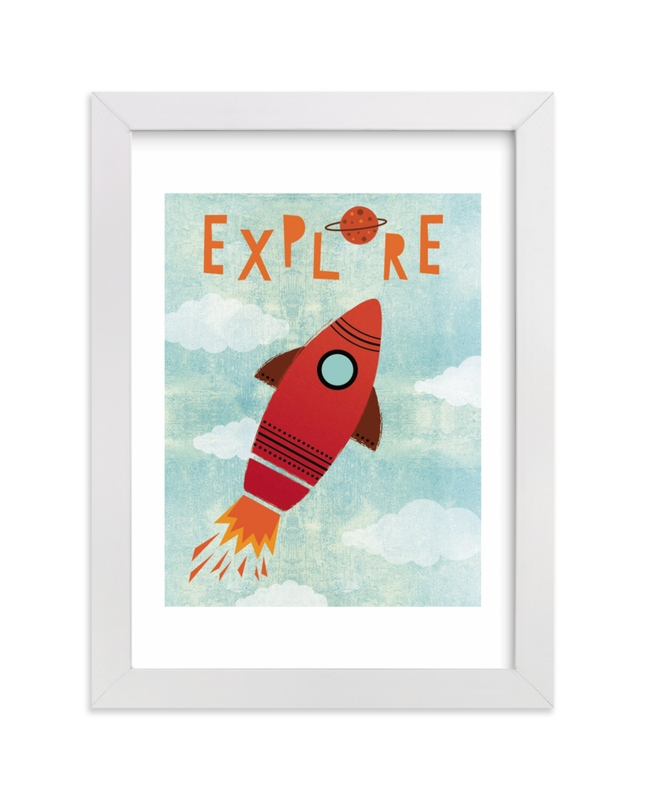 """""""Explore Your World"""" by Mansi Verma in beautiful frame options and a variety of sizes."""