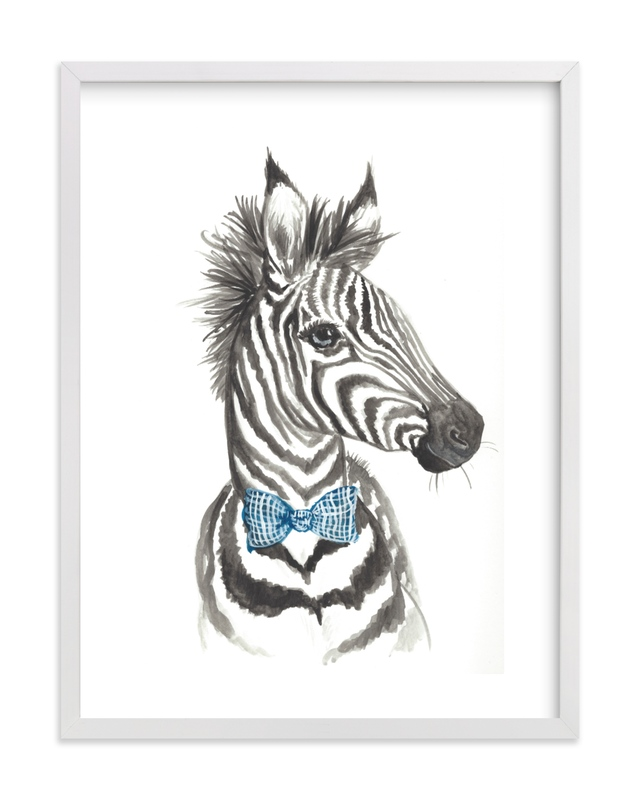 Dapper Zebra Kids Open Edition Non-Custom Art Print