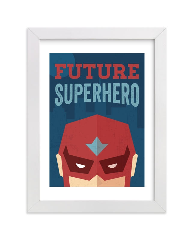 """He's a Future Superhero"" by Jennifer Morehead in beautiful frame options and a variety of sizes."