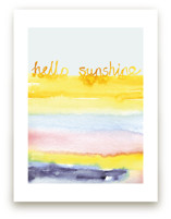 Watercolor Hello Sunshine