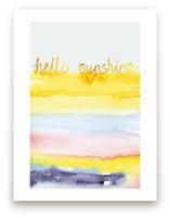 Watercolor Hello Sunshi... by Sonal Nathwani