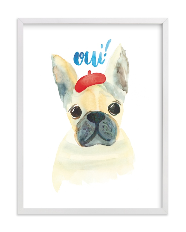 """""""Frenchie Pour Vous"""" by Pink House Press in beautiful frame options and a variety of sizes."""