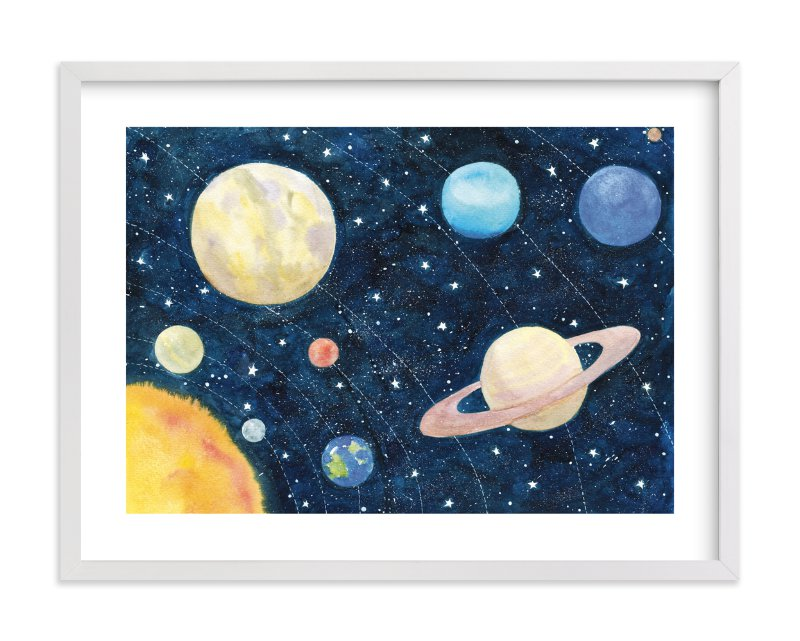 """Solar System"" by Alexandra Dzh in beautiful frame options and a variety of sizes."