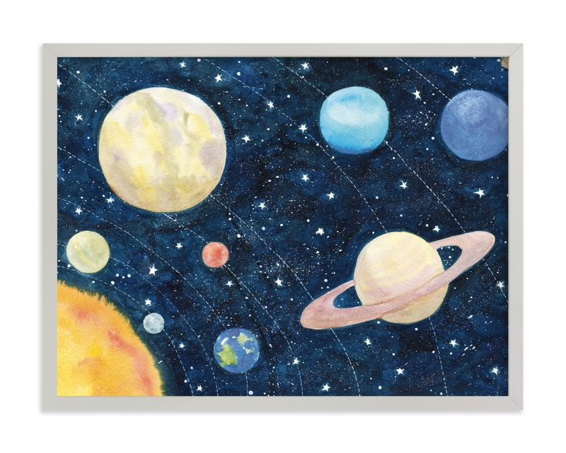 Solar System Kids Open Edition Non-Custom Art Print