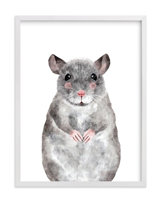 Baby Animal Rat Kids Open Edition Non-Custom Art Print