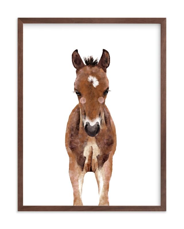 Baby Animal Horse Kids Open Edition Non-Custom Art Print