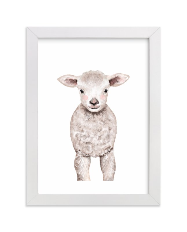 """""""Baby Animal Sheep"""" by Cass Loh in beautiful frame options and a variety of sizes."""