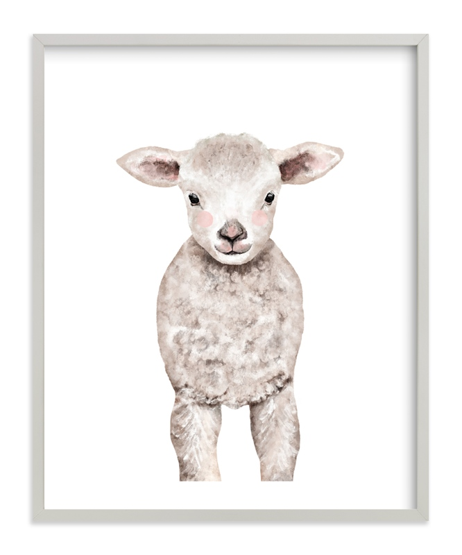 Baby Animal Sheep Kids Open Edition Non-Custom Art Print