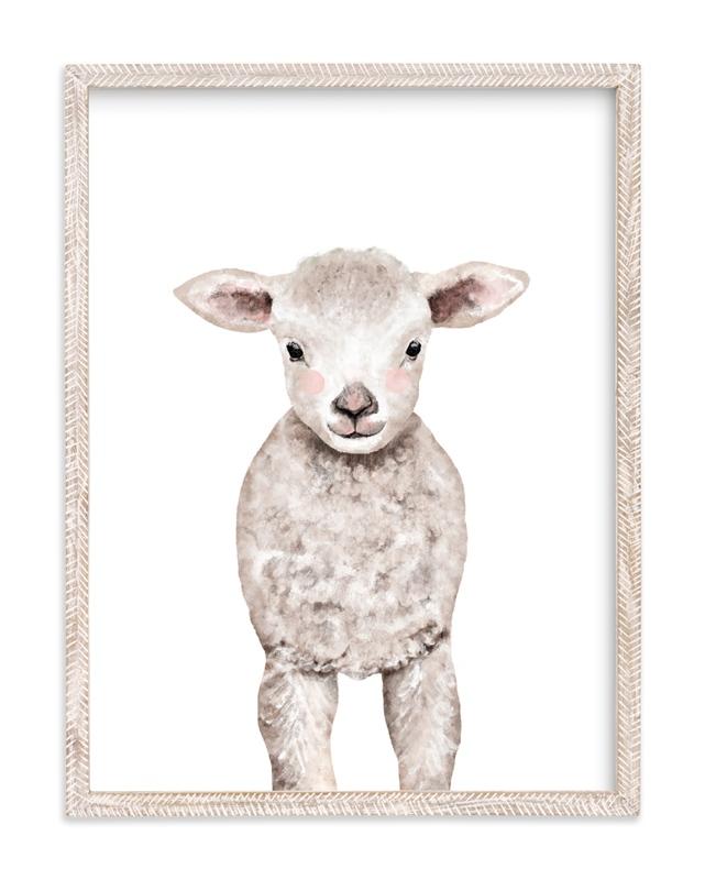 Baby Animal Sheep Kids Art Print