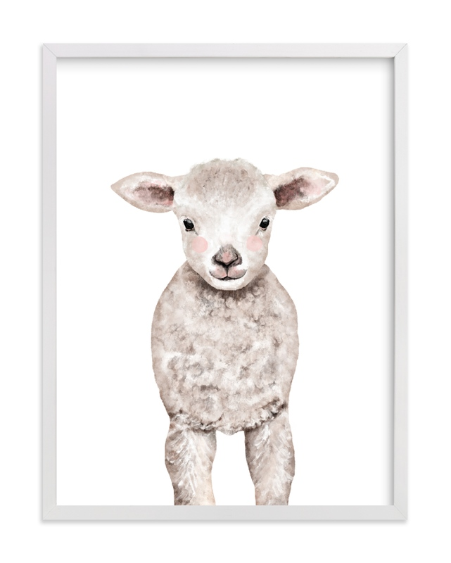 Baby Animal Sheep Kids Open Edition Non-Custom Art Print