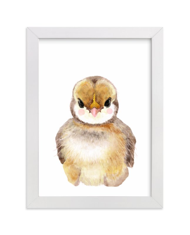 """Baby Animal Rooster"" by Cass Loh in beautiful frame options and a variety of sizes."