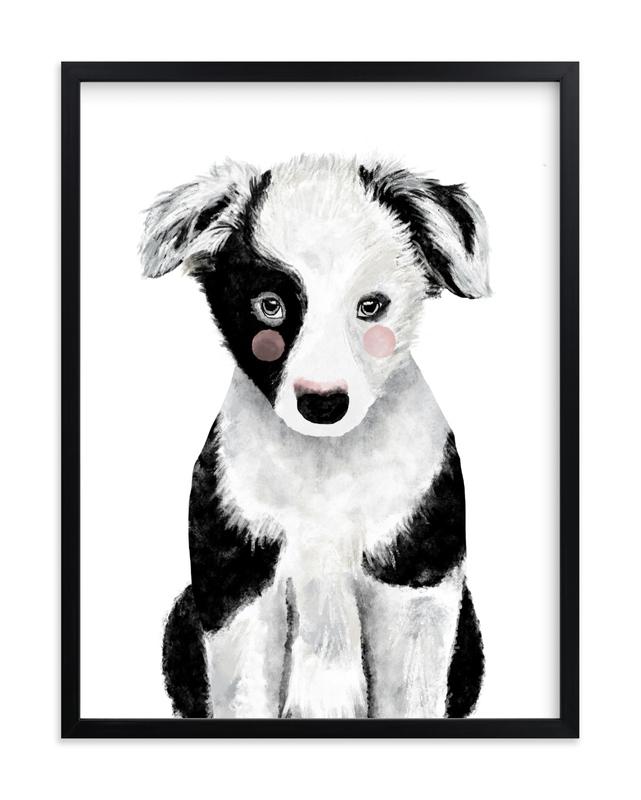 Baby Animal Dog Kids Open Edition Non-Custom Art Print