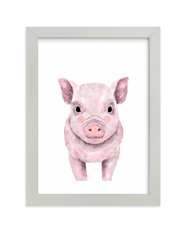 """Baby Animal Pig"" by Cass Loh in beautiful frame options and a variety of sizes."