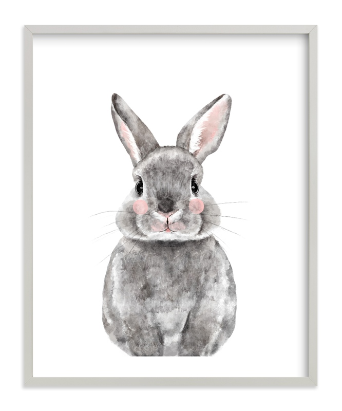 Baby Animal Rabbit Kids Open Edition Non-Custom Art Print