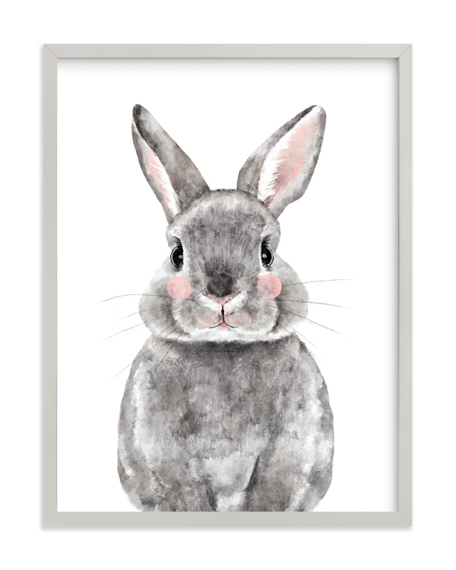 Baby Animal Rabbit Kids Open Edition Non-Custom Art Print