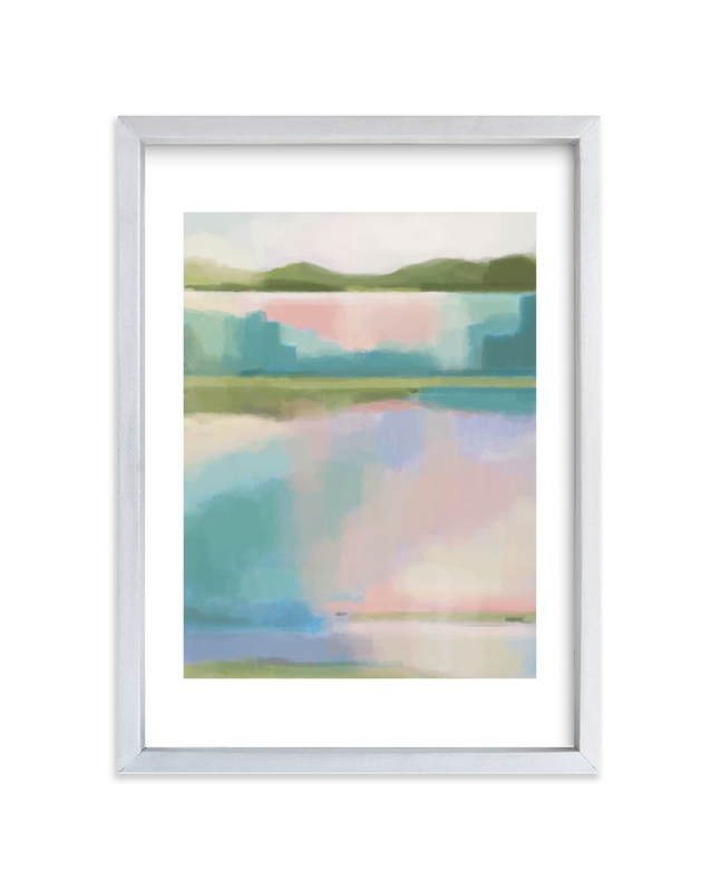 """""""Taffy Waterfall"""" by Alison Jerry Designs in beautiful frame options and a variety of sizes."""