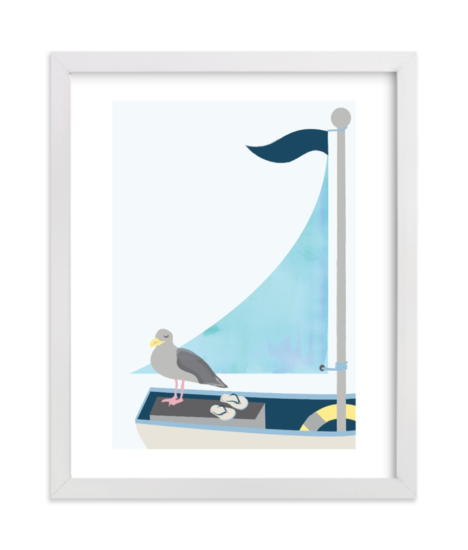 """Little Sailor"" by Kanika Mathur in beautiful frame options and a variety of sizes."