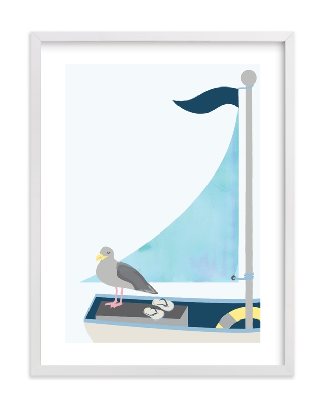 """""""Little Sailor"""" by Kanika Mathur in beautiful frame options and a variety of sizes."""