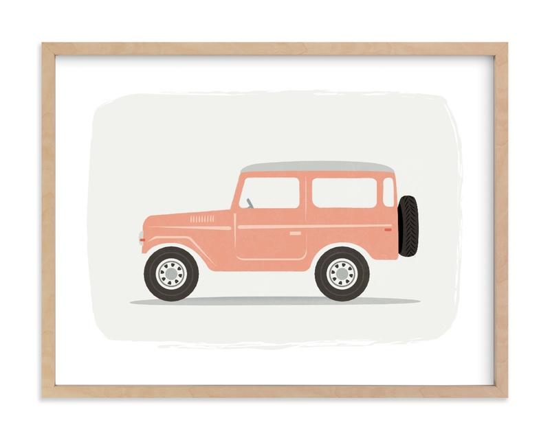 Vintage Land Cruiser Kids Open Edition Non-Custom Art Print