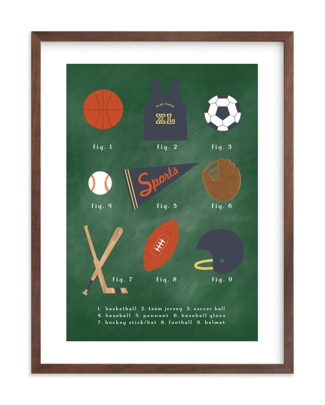 SPORTS PRIMER Kids Open Edition Non-Custom Art Print