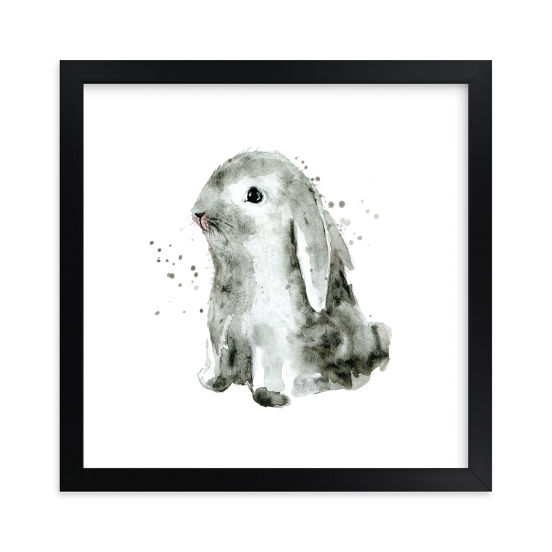 """Bunny1"" by Lulaloo in beautiful frame options and a variety of sizes."