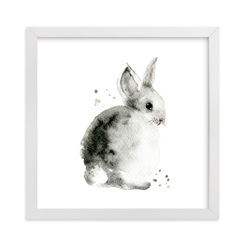 """Bunny2"" by Lulaloo in beautiful frame options and a variety of sizes."